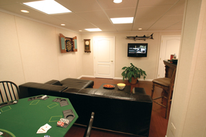 Man cave in Edison basement