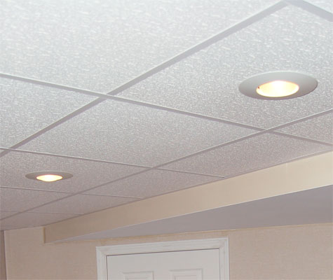 Basement Ceiling Tiles for a project we worked on in Short Hills, New Jersey