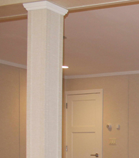 Easy Wrap column sleeves in Woodbridge basement