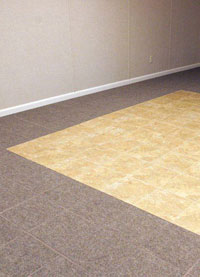 Basement Flooring in a home in Mount Freedom, New Jersey