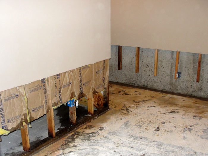 High Quality ... Once The Drywall Has Been Cut Away And All Other Damaged Wood Studs And  Insulation Have ...