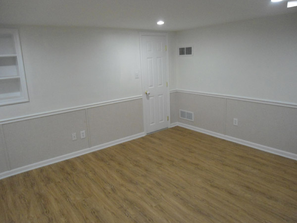 Our Complete EverLast™ Finished Wall Restoration System Installed In A  Basement, Complete With Floor · Drywall ...