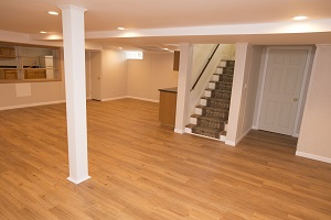 A remodeled basement with the Total Basement Finishing™ system in NJ & Staten Island