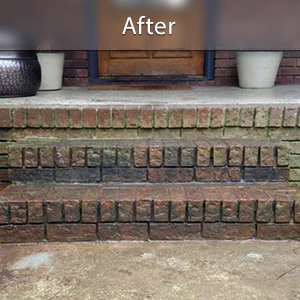 Sinking stairs repaired with PolyLevel® Staten Island