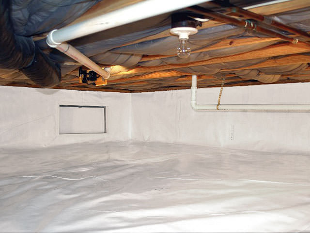 support jacks crawl space encapsulation for a dry healthier space