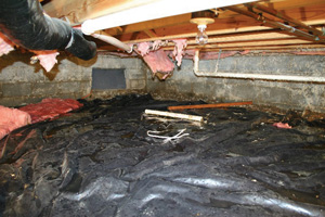 Crawl Space Repair Before in Toms River