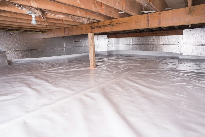 Crawl Space Vapor Barrier In Woodbridge Installed By Our Contractors ...