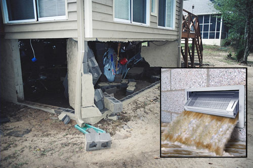 Flood Vent Installation In New Jersey Severe Flooding