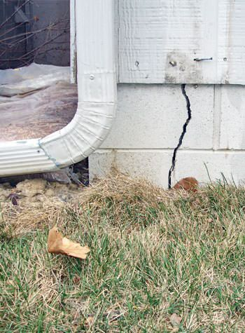 foundation wall cracks due to street creep in Trenton
