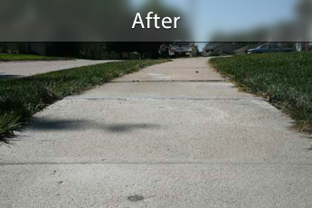 After photo of PolyLevel concrete sidewalk repair in Toms River