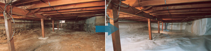 Crawl Space Repair in NJ, including Union City, Edison & Toms River.