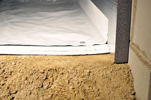 Insulating crawl space with foam insulation in Staten Island