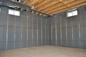 Insulating and finishing basement walls in New Jersey