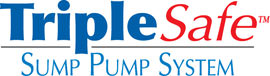 Sump pump system logo for our TripleSafe™, available in areas like Hoboken