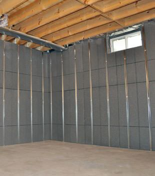 Installed basement wall panels installed in Short Hills